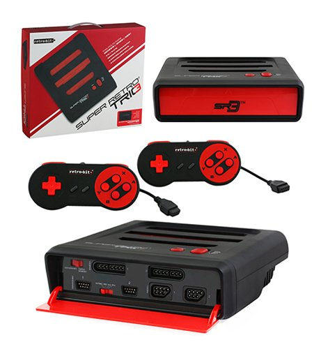 Retro Bit Super RetroTRIO 3 in 1 console Red/Black,