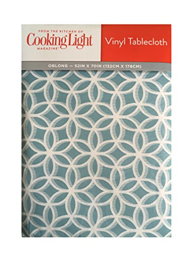 Genial Cooking Light Flannel Back Vinyl Tablecloth Spiro Blue (60x84 Oval)