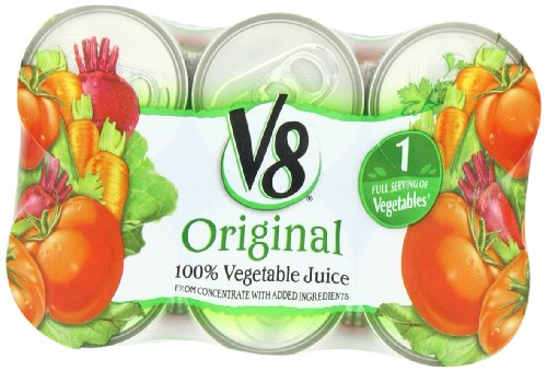 V8 100% Vegetable Juice, Original, 6-Count, 5.5-Ounce Can (Pack Of 8) front-688938