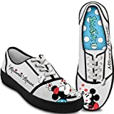 Disney Kissin' Mickey & Minnie Women's Canvas Shoes by The Bradford Exchange