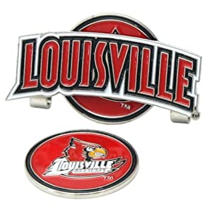 Louisville Cardinals Slider Clip with Golf Ball Marker (Set of 3) by LinksWalker