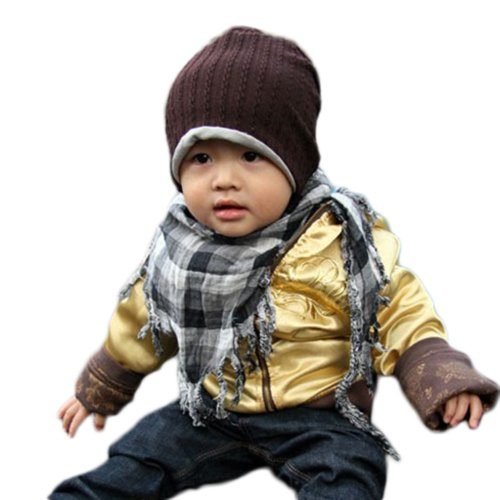 Baby Infant Toddler Hat Boys Girls Cap Children (Coffee) front-1063776