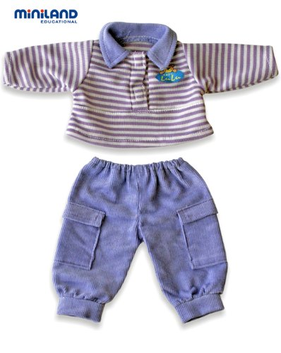 Miniland VioletPolo Shirt And Trousers For 8.25'' Baby Dolls front-858403