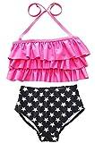 Happy Cherry Maillot de bain Deux Pièce Bikini Taille Haut Bandage...