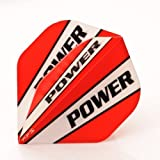 3 x SETS POWER MAX EXTRA TOUGH DART FLIGHTS RED WHITE STRIPE SUPER STRONG STANDARD