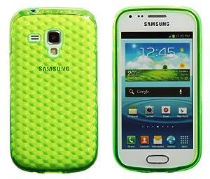 Luxburg® Diamond Design coque pour Samsung Galaxy S Duos en couleur Vert émeraude, housse étui case en silicon