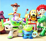 amtonseeshop Lots 8 Mini Toy Story 3 Buzz Lighter Woody Jessie Figures Dinosaur Lotso Dot Set