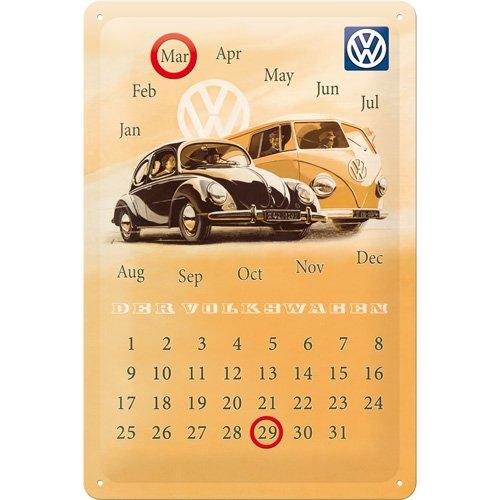 nostalgic-art-20281-targa-metallica-da-appendere-con-calendario-soggetto-volkswagen-vw-beetle-e-bull