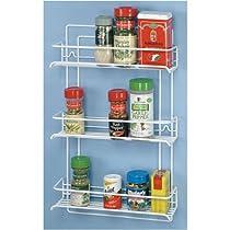 White,Grayline,3 Shelf Gourmet Spice Rack