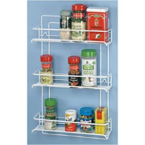 Grayline 40552, 3 Shelf Gourmet Spice Rack, White by Grayline