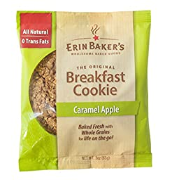 Erin Baker\'s Breakfast Cookie Caramel Apple, 3-Ounce Individually Wrapped Cookies,12 Count