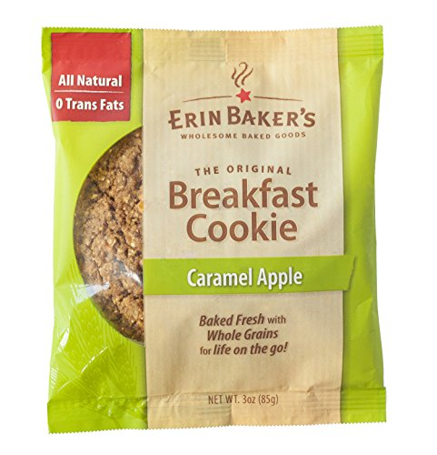 Erin Baker's Breakfast Cookie Caramel Apple, 3-Ounce Individually Wrapped Cookies,12 Count