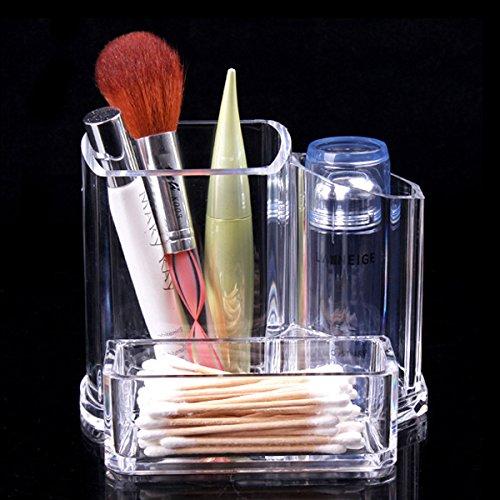 Tinksky Multifonctions acrylique transparent rouge à lèvres de bureau cosmétique brosse titulaire maquillage organisateur de stockage à la casse