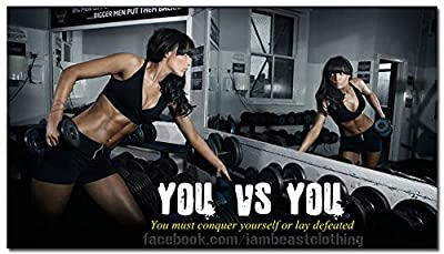 You vs You - Bodybuilding Motivational Art Silk Poster 24x43 inches
