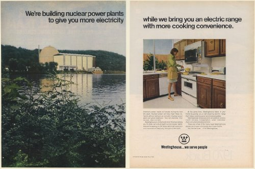 1969 Westinghouse Connecticut-Yankee Nuclear Power Plant Electric Range 2-Page Print Ad (Memorabilia) (58894)