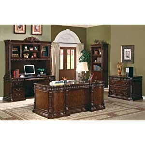 Coaster Fine Furniture 800800 Executive Desk with Computer Storage