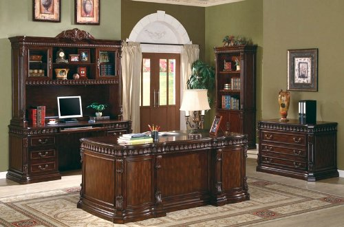 Etonnant Coaster Fine Furniture 800800 Executive Desk With Computer Storage
