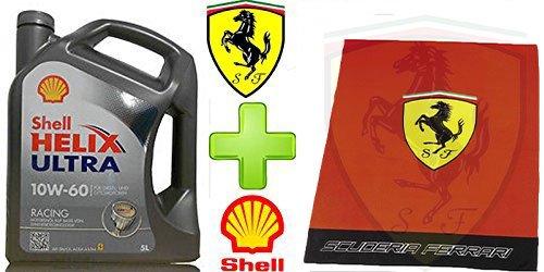 Shell-Helix-Ultra-Racing-10W60-5-Litri-Plaid-Ufficiale-Scuderia-Ferrari-100-polyester-Dimensioni-130x170-cm