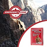 Emergency Poncho, Emergency Rain Gear, Weather Protection, Emergency Zone Brand (1 Pack)