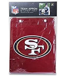 Nfl San Francisco 49Ers\'S Barbeque Apron And Chefs Hat Set