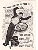 Fred Astaire ad original clipping magazine photo 1pg 8x10 #R0109