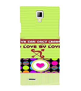 PrintVisa Love Quotes Design 3D Hard Polycarbonate Designer Back Case Cover for Micromax Canvas Xpress A99