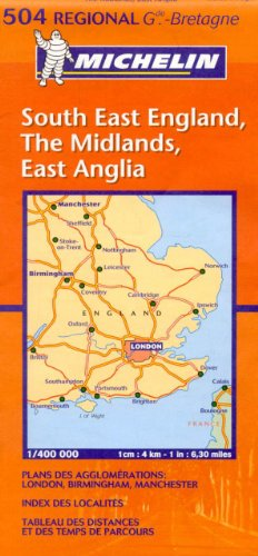 Michelin Map Great Britain: South East England, The Midlands, East Anglia 504 (Maps/Regional (Michelin))