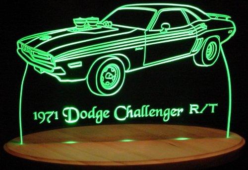 1971 Dodge Challenger R/T Acrylic Lighted Edge Lit Led Car Sign / Light Up Plaque 71