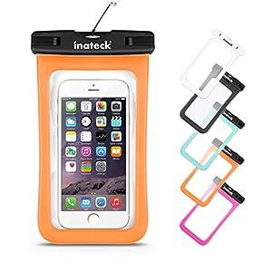 Inateck Pochette étanche téléphone iPhone 6 plus/6 Galaxy S6/ S5/ Note 4 étui étanche Waterproof écran tactile Imperméabilité niveau IPX8 Smartphones 4-5.7 Pouces