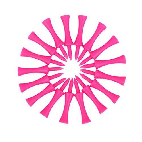 100 Stück Golf Tee Doppelstock Hot Pink T SN006 60MM