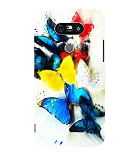 printtech Colored Butterfly Animated Back Case Cover for G G5 Dual H860N