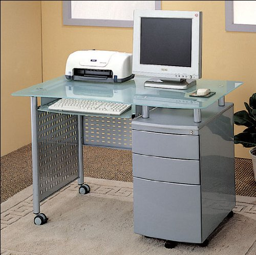 Buy Low Price Comfortable Modern Computer Desk Office Table Work Station w/File Cabinet (B000GVCMAY)