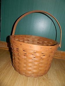 Longaberger 1999 large round basket with swing handle 13 5 quot - Diametre cercle basket ...