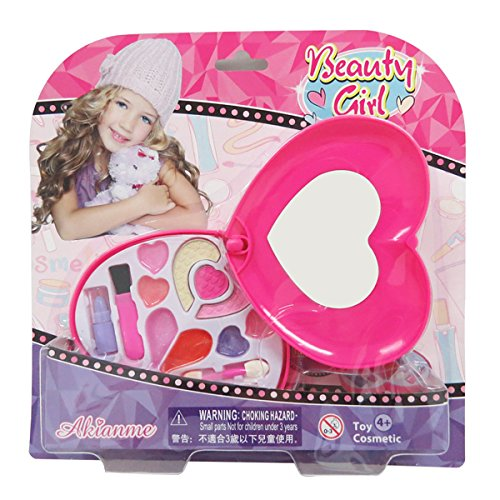 Ange-la Fashion Girl Deluxe Bouquet Case Pretend Play Toy Make Up Case Kit, Safe, Non-Toxic, Washable, Formulated for Children CE Approved