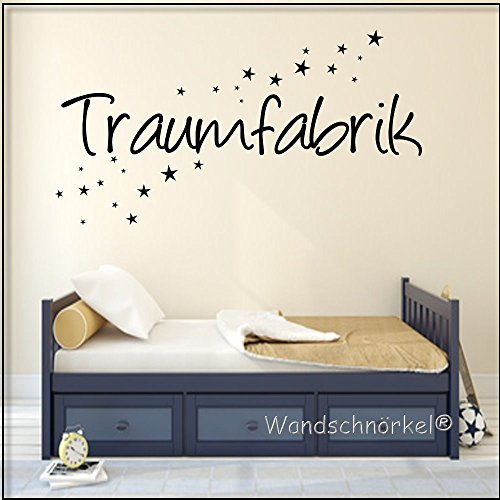 wandtattoo schlafzimmer spruch traumfabrik 120x25cm schwarz. Black Bedroom Furniture Sets. Home Design Ideas