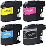 E-Z Ink Compatible Ink Cartridge Replacement for Brother LC-103 (1 Black, 1 Cyan, 1 Magenta, 1 Yellow) 4 Pack Compatible With MFC-J4310DW MFC-J4410DW MFC-J4510DW MFC-J4610DW MFC-J4710DW MFC-J470DW MFC-J475DW MFC-J870DW MFC-J875DW DCP-J152W MFC-J245 MFC-J285DW Printer