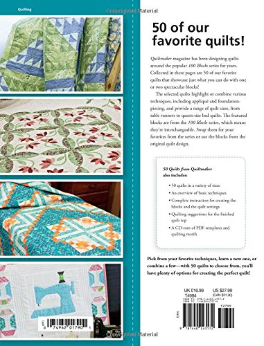 50 Quilts from Quiltmaker: Favorite Quilts from the 100 Blocks Series (Quilts from 100 Blocks)