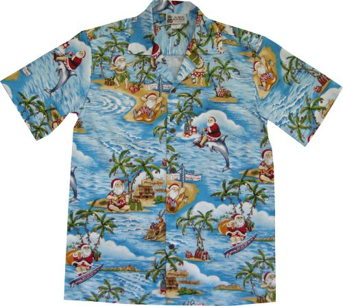 Surfing Santa Hawaiian Shirt
