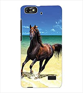 ColourCraft Horse Design Back Case Cover for HUAWEI HONOR 4C