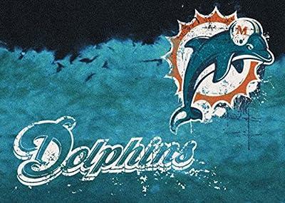 Milliken Miami Dolphins NFL Team Fade Area Rug