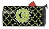 Monogram C Magnetic Mailbox Cover Garden Trellis Initial C Mail Wrap