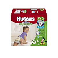 Huggies Little Movers Slip-On Diapers Big Pack, Size 4, 56 Count