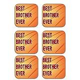 MeSleep Best Brother Wooden Coaster-Set Of 6