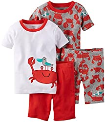 Carter's Boys 4-Piece Snug Fit Cotton PJs, Red, 7