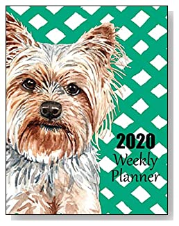 Yorkshire Terrier 2020 Dated Weekly Planner - A fun canine-themed planner to help any dog lover stay organized and keep track of activities on a daily, weekly, and monthly basis from January to December 2020.