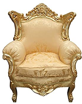 Casa Padrino Baroque Armchair 'Al Capone' Mod 2 Gold / Gold antique style furniture