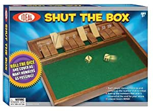 POOF-Slinky 36600 Ideal Shut The Box Tabletop Game by Ideal TOY (English Manual)