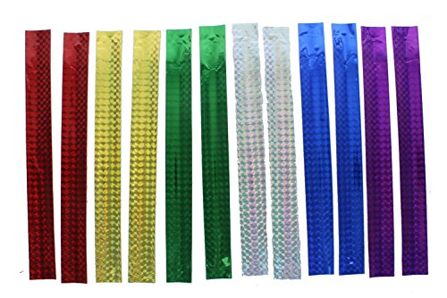 Lot of 12 Asst Color Metallic Slap Bracelets Favors - 1