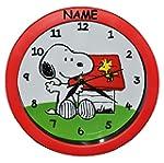 Wanduhr Snoopy Peanuts incl. Namen -...