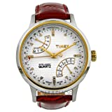 Timex Women's T2N568 Intelligent Quartz T Series Perpetual Calendar Red Croco Leather Strap Watch